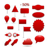 Large, red Arrivals for online shopping, with many Royalty Free Stock Photography