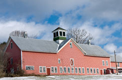 Large Red Barn Winter Royalty Free Stock Images