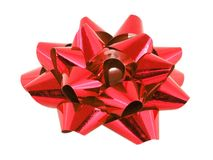 Large red bow Royalty Free Stock Image