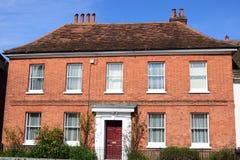 Large red brick Georgian House Stock Photos