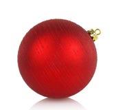 Large red Christmas ball Stock Photography