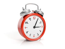 large red clock Stock Photography