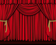 Large red curtain Royalty Free Stock Photo