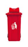 Large red garbage bin Stock Photo