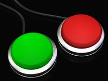 Large red and green buttons Stock Photo