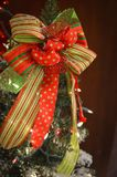 Large Red and Green Christmas Bow stock images