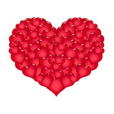 Large red heart Royalty Free Stock Images