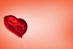 A large red heart balloon Stock Image