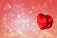 Large red heart shaped balloon Royalty Free Stock Image