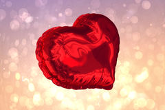 Large red heart shaped balloon Royalty Free Stock Photo