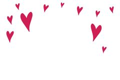 A Large Red Hearts shapes Stock Images