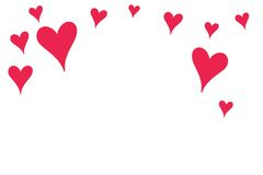 A Large Red Hearts shapes Royalty Free Stock Image