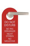 Large Red Isolated Do Not Disturb Tag Royalty Free Stock Image