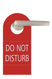 Large Red Isolated Do Not Disturb Tag Royalty Free Stock Images