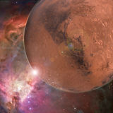 Large red planet Stock Image