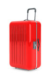 Large Red Polycarbonate Suitcase Royalty Free Stock Photos