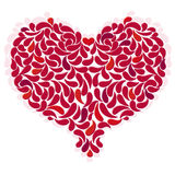 Large red romantic heart Stock Photo