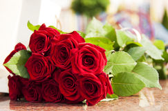 Large Red rose bouquet Royalty Free Stock Images