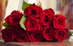 Large Red rose bouquet Stock Image