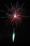 Large red and silver fireworks Royalty Free Stock Photos