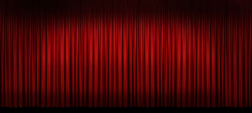 Large Red Stage Curtain stock photo