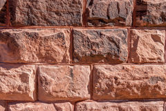 Large Red Stone Blocks Royalty Free Stock Images