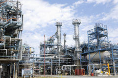 Large Refinery Interior Royalty Free Stock Images
