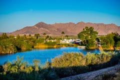 The famous Yuma Lakes in Yuma, Arizona royalty free stock images