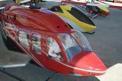 Large Remote Control Helicopters at Air Show Stock Image