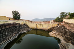 Large reservoir at Nahargarh Fort in Jaipur Royalty Free Stock Photo