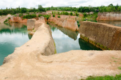 Large reservoirs and high mound in Thailand Royalty Free Stock Photography