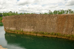 Large reservoirs and high mound in Thailand Stock Photos