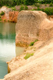 Large reservoirs and high mound in Thailand Royalty Free Stock Photos