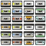 Large Retro Audio Tapes Collection - Vector Cassette Set vector illustration