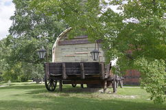 Large retro covered wagon Stock Photography
