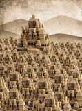 Large retro sandcastle Royalty Free Stock Image