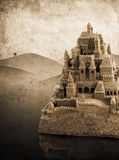 Large retro sandcastle Stock Photo