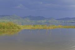 Large ripples at Lake Bosumtwe Royalty Free Stock Photo