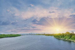 Large river Stock Photography