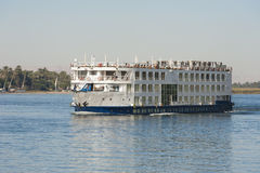 Large river cruise boat on the Nile Royalty Free Stock Images