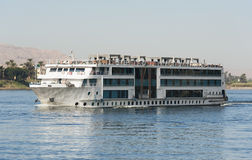 Large river cruise boat on the Nile Royalty Free Stock Photo