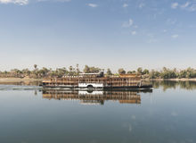 Large river cruise boat on the Nile Stock Photo