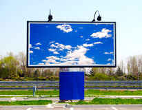 Large roadside sign Royalty Free Stock Photo