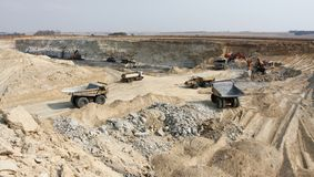 Open Pit Coal Mining in South Africa royalty free stock images