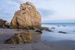 Large rock at El Matador Beach, Malibu Stock Image
