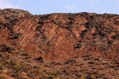 Large Rock Face on Side of Mountain. Picture of Steep Large Rock Face on Side of Mountain Stock Images