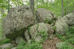 Large Rock formation at the Peaks of Otter Stock Images