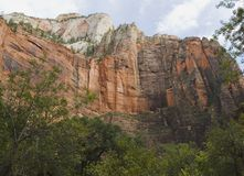 Large Rock Formation in Zion N Royalty Free Stock Image