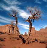 Large rock formations in Monument Valley Royalty Free Stock Photography