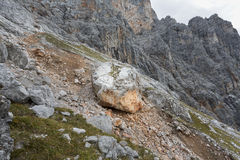 Large rock in the German alps Stock Photography